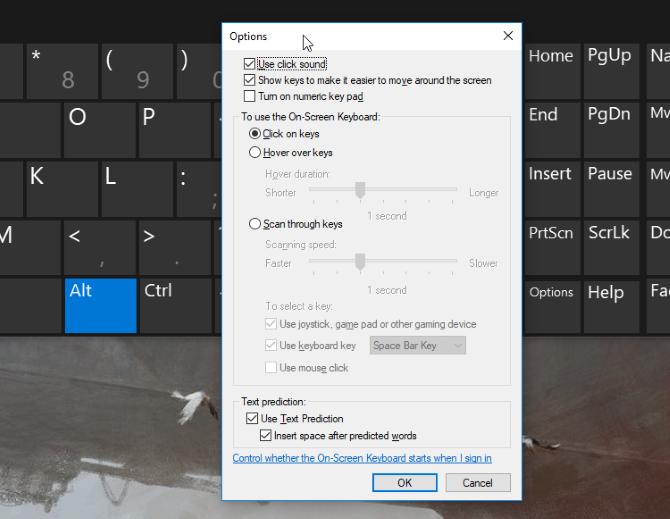 windows 10 on screen keyboard numpad