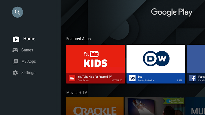 google play store app android tv