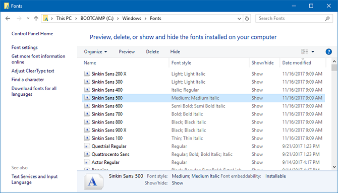 Everything You Can Do With Fonts in Windows 10 – CrackWare