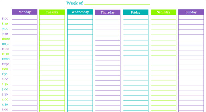 these time blocking free printable planners will help you avoid