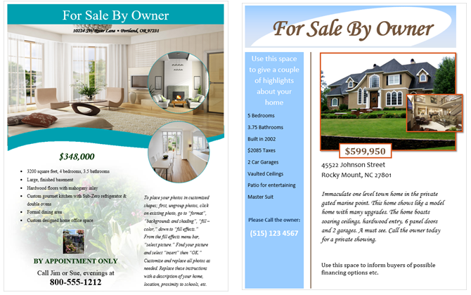 How To Make Flyers In Microsoft Word With Free Templates CrackWare - Real estate for sale by owner templates