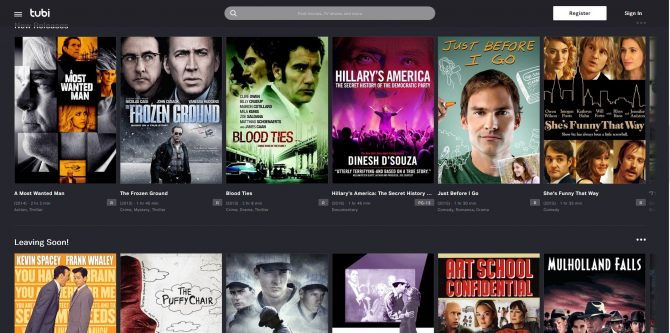 the top free movie streaming sites