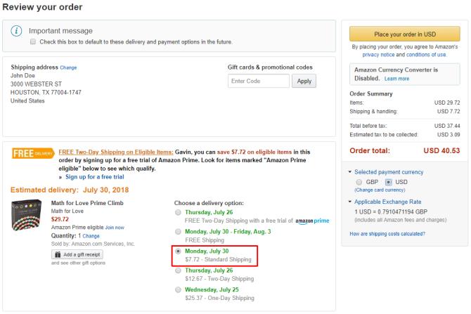 Amazon Prime Info