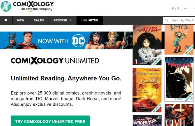 Comixology Ebook Subscription Service