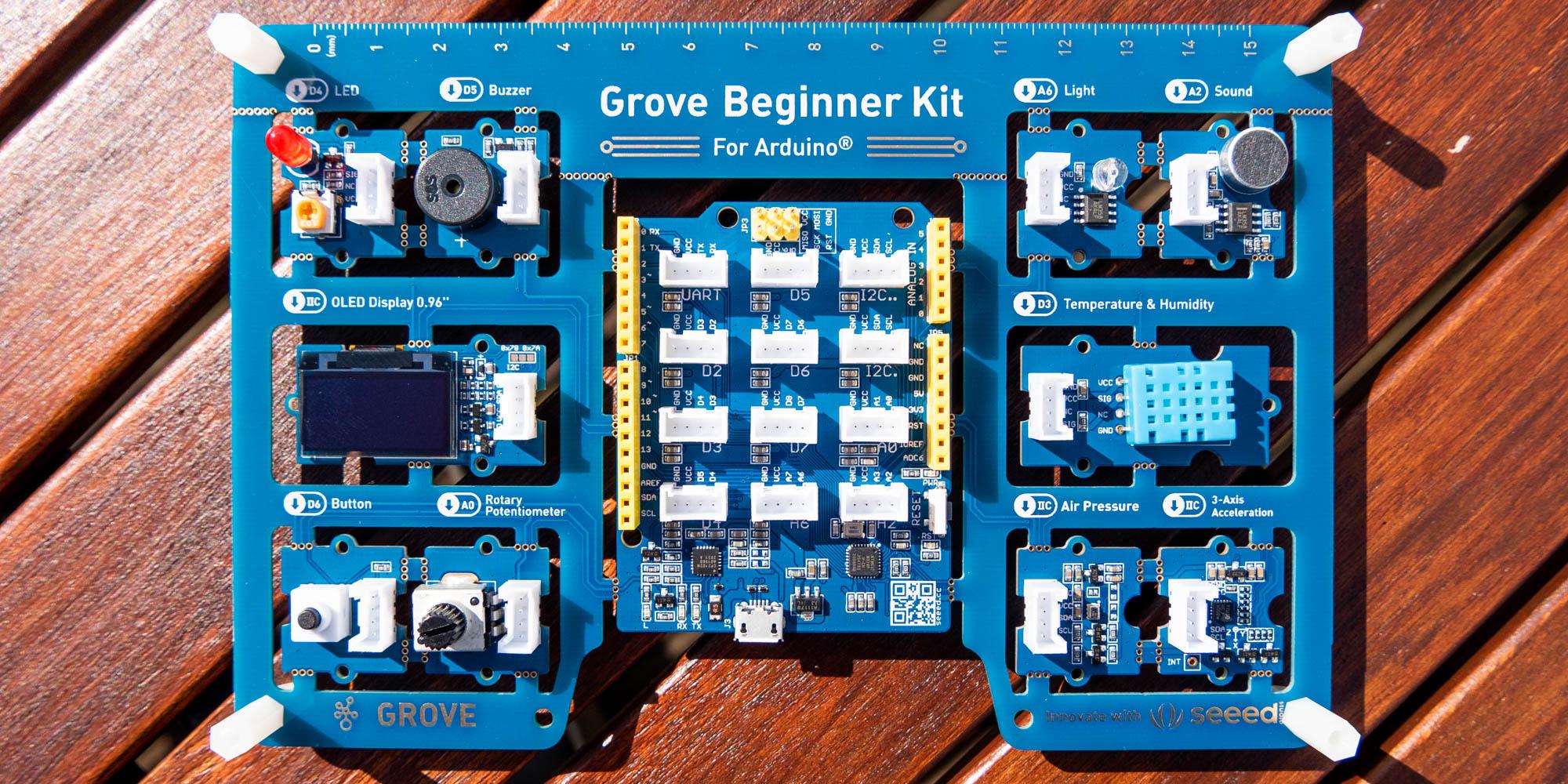 комплект для начинающих Grove содержимое коробки