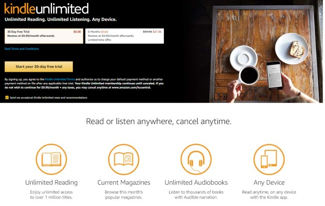 Kindle Unlimited eBook Subscriptions