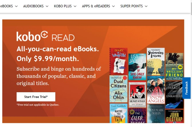 Kobo Plus Ebook Subscription Service
