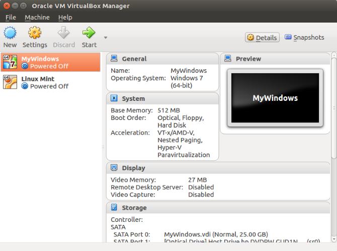 Run a Linux VM on Virtualbox