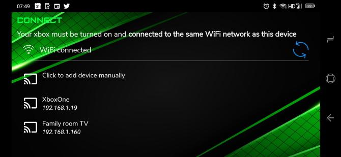 Remote control Xbox with Xbstream