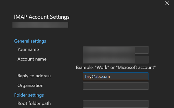 enter an outlook reply to email
