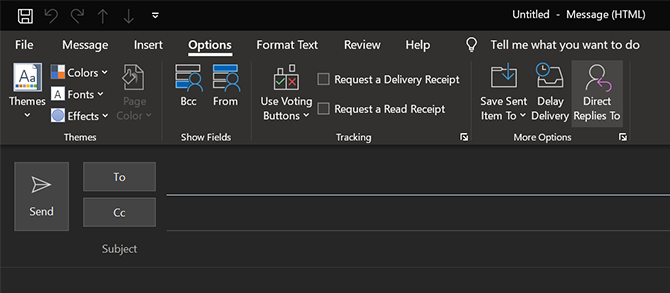 change reply to email in outlook