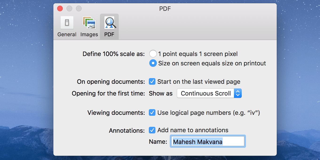 pdf history preview mac