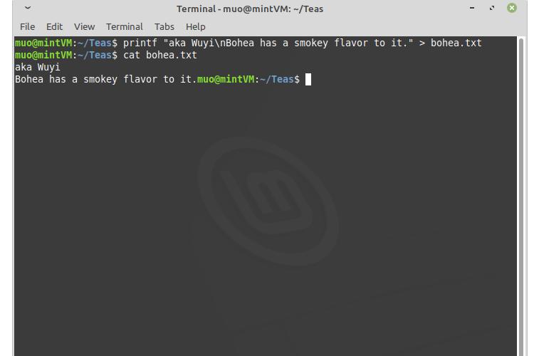 Membuat File Baru di Linux dengan Printf