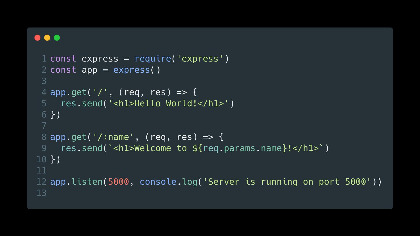 """Code ExpressJS pour le serveur Web """"width ="""" 1728 """"height ="""" 970"""